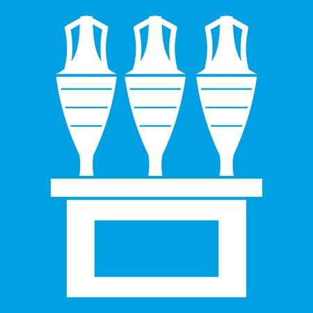 earthenware: Antique jugs icon white