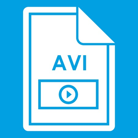 avi: File AVI icon white