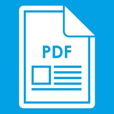 pdf: File PDF icon white Illustration