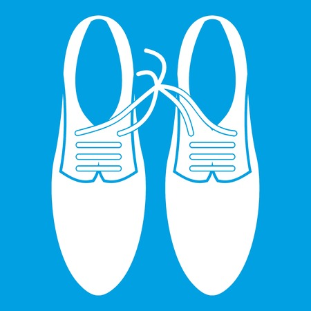 loafer: Tied laces on shoes joke icon white Illustration