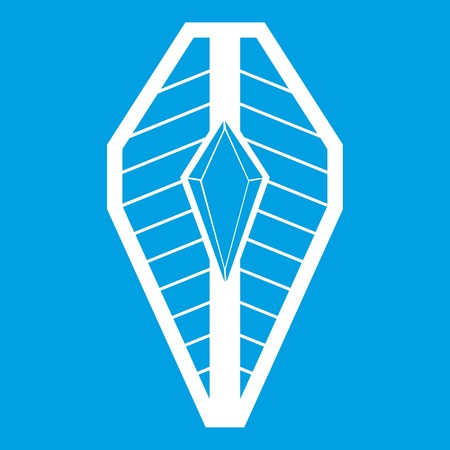 Shield icon white isolated on blue background vector illustration Illustration