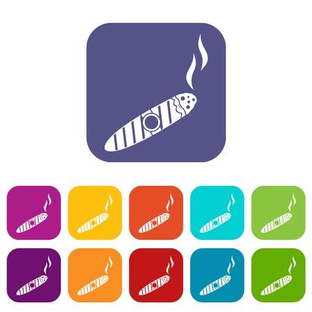 Cigar icons set