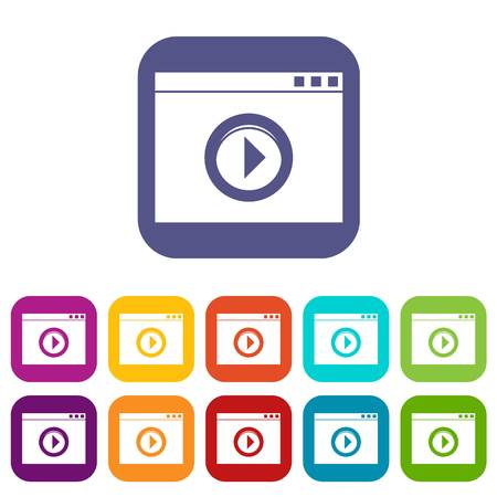 pause button: Video player icons set