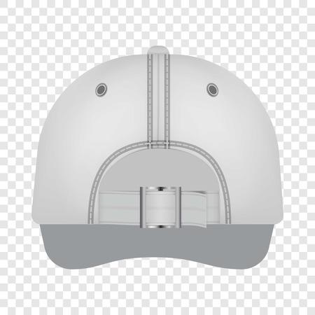 White cap back view mockup, realistic style Çizim