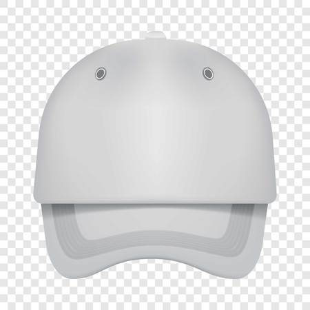 sunny side up: White cap front view mockup, realistic style