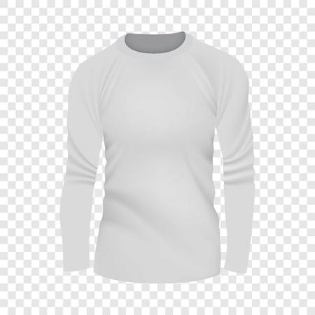 White tshirt long sleeve mockup, realistic style illustration. Illustration