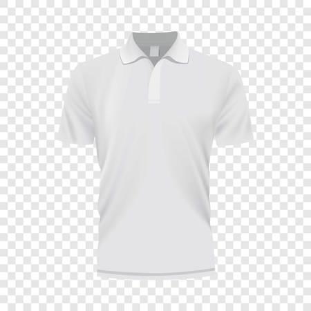 Mockup de camisa branca, ilustração de estilo realista.