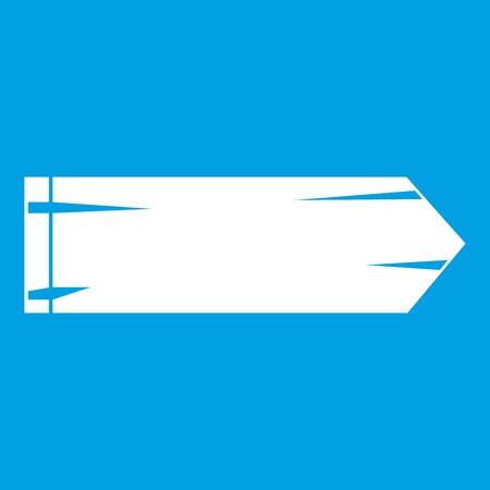 Thick arrow icon white illustration.
