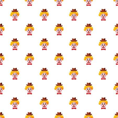 Clown face with hat pattern