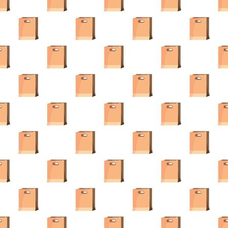 Brown paper bag pattern Illustration