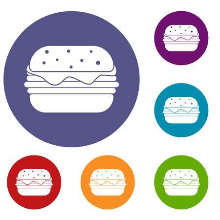 Hamburger icons set Çizim