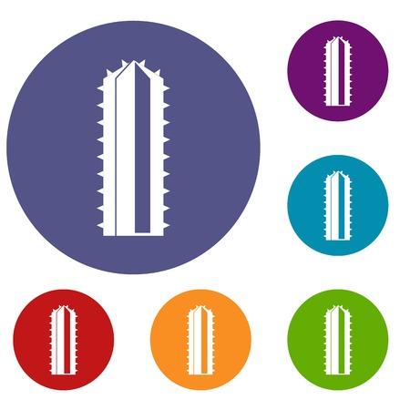 Cactus plant icons set Illustration