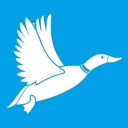 Duck icon white Illustration