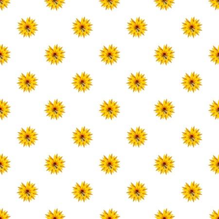 Bee on flower pattern Illustration