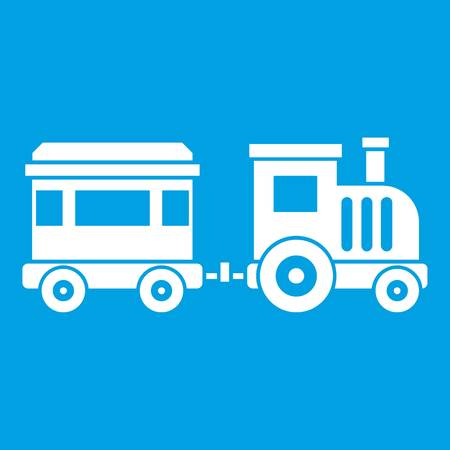 Toy train icon white