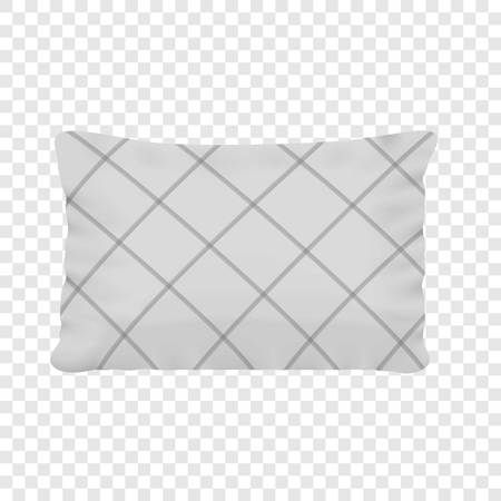 Rectangular pillow realistic style mock up Illustration
