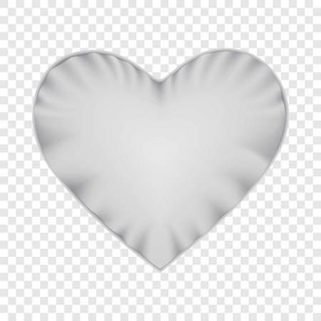 White heart shape pillow mockup, realistic style