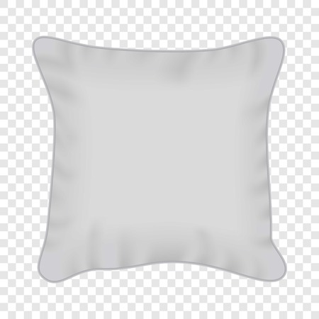 White square pillow mockup, realistic style Illustration