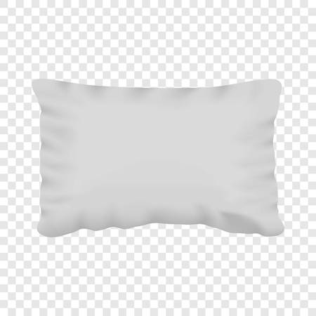 White pillow mockup, realistic style