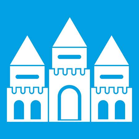 Children house castle icon white Illustration