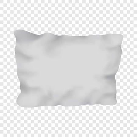 White rectangular pillow mockup, realistic style