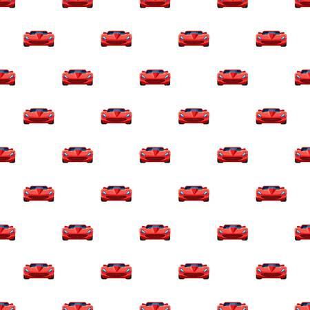 Red sport car pattern seamless Illustration