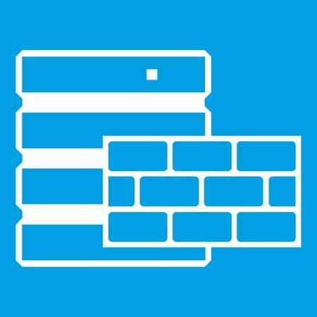 hard: Database and brick wall icon white