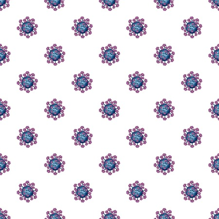influenza: Virus pattern seamless repeat in cartoon style vector illustration Illustration