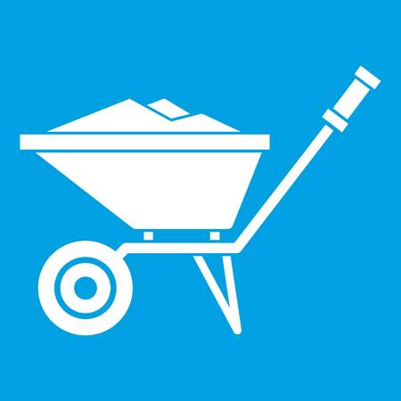 Wheelbarrow icon white