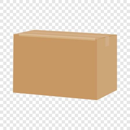 Carton box container mockup, realistic style