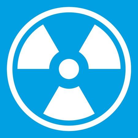 Peligro icono nuclear blanco