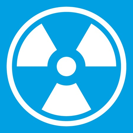 Danger nuclear icon white Illustration