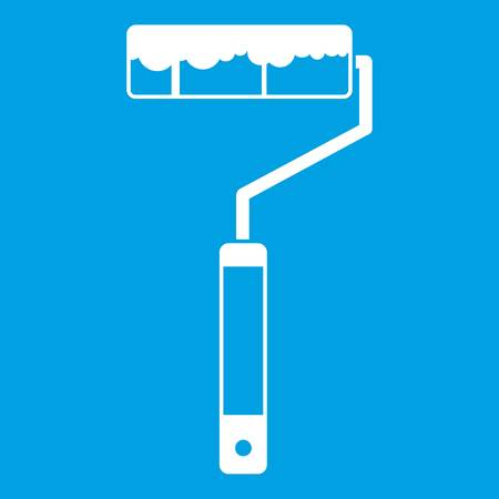 Paint roller icon white