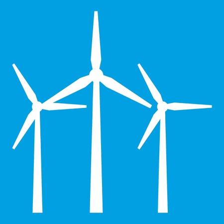 Wind turbines icon white
