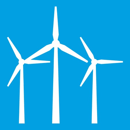 windfarm: Wind turbines icon white