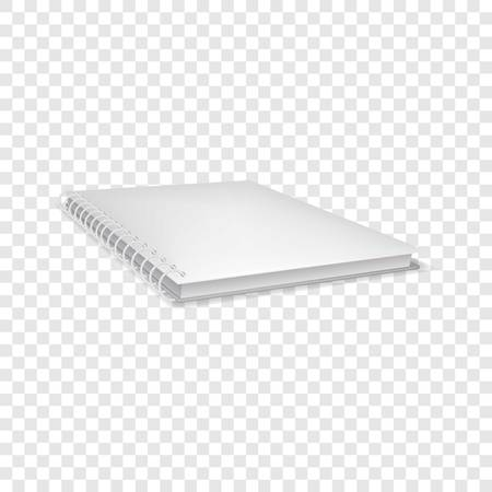 Closed notebook icon, realistic style Illustration