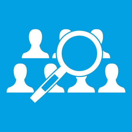 Magnifying glass searching icon white