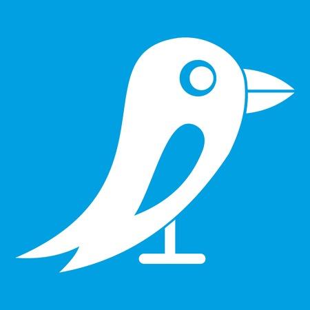 Social network bird icon white