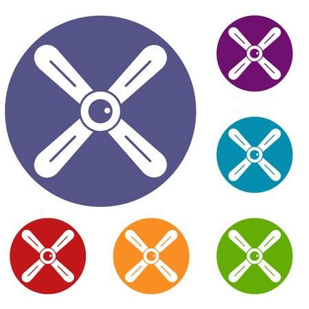 Propeller icons set Illustration