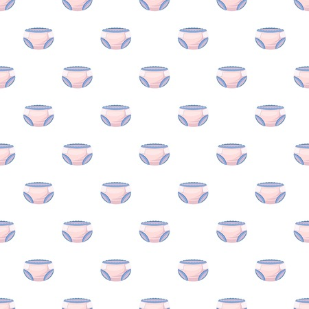 incontinence: Diaper pattern seamless repeat in cartoon style vector illustration