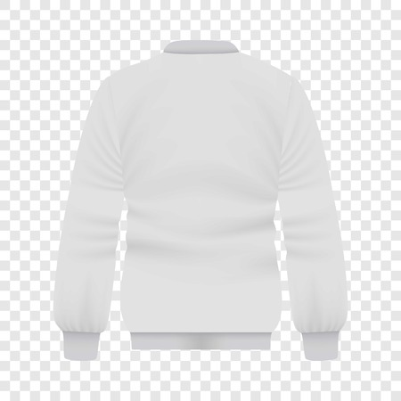 Back of white baseball jacket mockup Stock Vector - 82573409