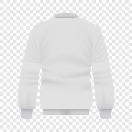 Back of white baseball jacket mockup Illustration