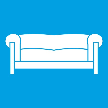 Sofa in simple style isolated on white background vector illustration