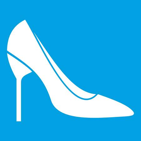 Bride shoes in simple style isolated on white background vector illustration