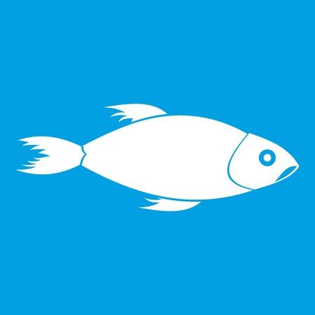 Fish icon white Illustration