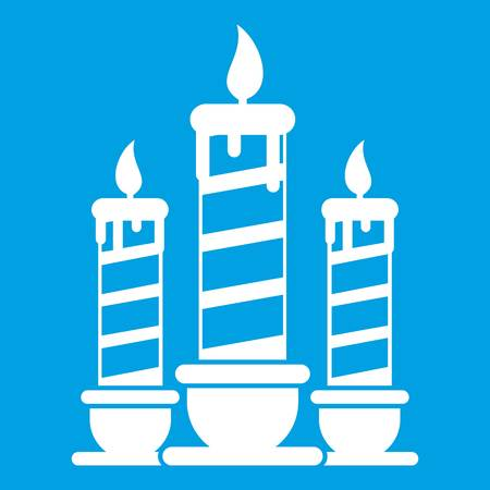 Festive candles icon white Illustration