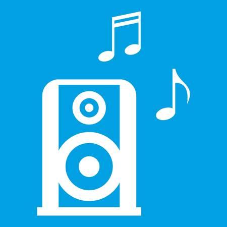 Portable music speacker icon white