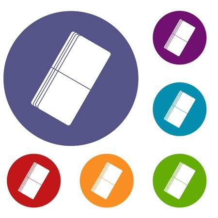 Eraser icons set