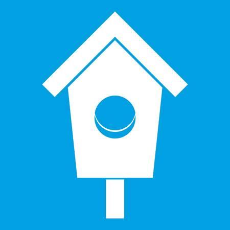 chalet: Birdhouse icon white