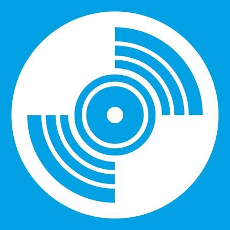Gramophone vinyl LP record icon white